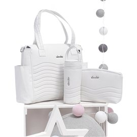 Mochila maternal polipiel Onda White Alondra