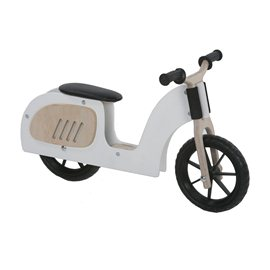 Moto de madera infantil color blanco Alondra