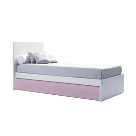 Cama junior 90x200 cm con cajones inferiores serie Sero Even Alondra