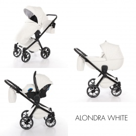 Cochecito bebé Duo ALONDRA by MOMON Blanco polipiel