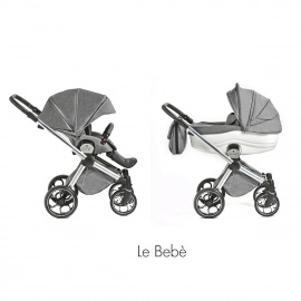 Cochecito bebé Duo LEBEBE ALONDRA by MOMON Gris